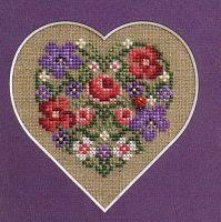 A pretty way to frame a Cross Stitch