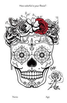 Itty Bitty Coloring Book Pages Sugar Skull Art, Sugar Skulls, Coloring Book Art, Adult Coloring Pages, Taco Cart, Skeleton Mask, Glass Artwork, Stencil Patterns, Printed Pages