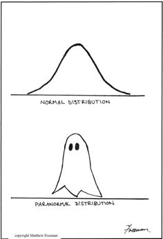 Normal vs Paranormal by Australian epidemiologist Matthew Freeman of the Public Health Information Development Unit at the University of Adelaide. via causeweb #Cartoon #Probability #Statistics