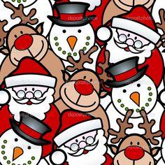 Baixar - Fundo de Natal sem emenda — Ilustração de Stock #13721770