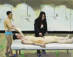 Liu Xiaodong (b1963; Jincheng Town, Liaoning Province). He now holds tenure as a professor in the painting department at CAFA