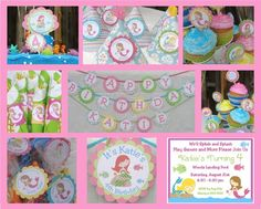 Sweet Little Mermaid Birthday Party Package from by PartyPops, $106.00
