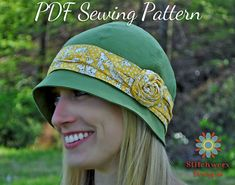 Azalea S110COMBO Vintage Cloche Hat from Stitchwerx Designs is an easy Digital PDF Sewing Pattern to make an adorable 1920s Flapper Style Hat with 10 sizes included to fit newborns to adults. Great for dressing up or down depending on your fabric choices.  ~~~~~~~~~~~~~~~~~~~~~~~~~~~~~~~~~~~~~~~~~~~~~~~~~~~~~~~~~~~~~~~  This is a DIGITAL PDF SEWING PATTERN only, NOT a finished product, NOT a kit.  ~~~~~~~~~~~~~~~~~~~~~~~~~~~~~~~~~~~~~~~~~~~~~~~~~~~~~~~~~~~~~~~  Size Chart: (10 sizes…