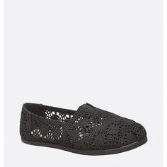 Avenue Malibu Crochet Flat ($35) ❤ liked on Polyvore featuring shoes, flats, black, plus size, wide width flat shoes, stretch shoes, avenue shoes, black shoes and black flats