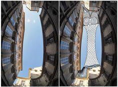 Sky Art: Thomas Lamadieu Illustrates in the Sky Between Buildings (15 Pictures)