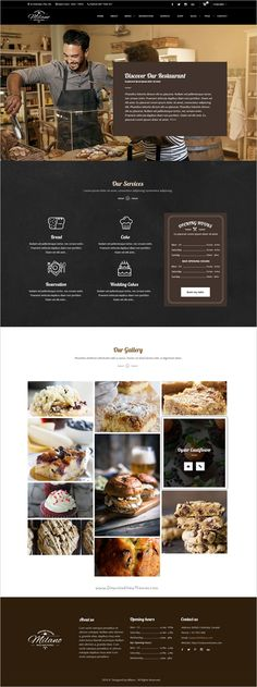 Milano is a stunning #PSD Template for #Bakeries, #Cake & Coffee Shops website with 3 unique homepage layouts and 16 organized PSD pages download now➩ https://themeforest.net/item/milano-stunning-bakery-psd-template-for-bakeries-cake-coffee-shops/19108936?ref=Datasata