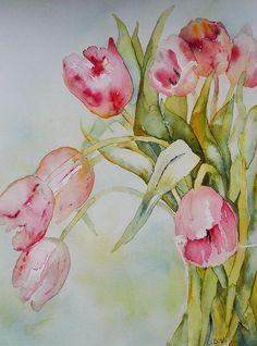 passionplenty:  Favourite Pink Tulips.jpgbyLinda VirioonFlickr