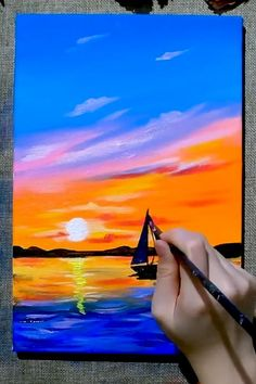 Diy Art Painting, Painting Art Lesson, Abstract Art Painting, Nature Art Painting, Amazing Art Painting, Landscape Art Painting, Diy Canvas Art Painting, Creative Painting, Art Painting Gallery
