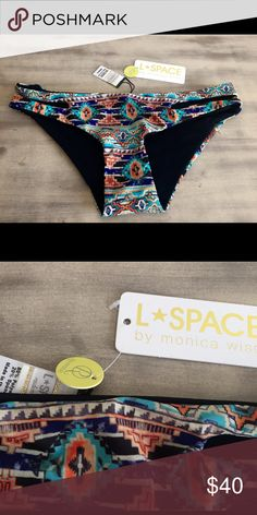 L*SPACE Aztec Print 'Estella' Bottoms NEW WITH TAGS. This is my lowest price and no trades l*space Swim Bikinis