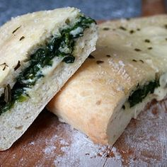 Stuffed Focaccia Recipe - Italian Food Forever - make with vegan cheese!!!