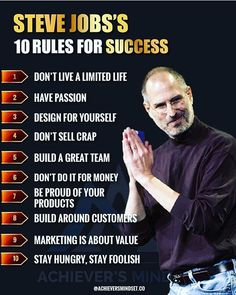 Success tips from Steve Jobs Job Quotes, Mindset Quotes, Wisdom Quotes, Career Quotes, Growth Quotes, Quotes Dream, Life Quotes Love, Motivational Quotes For Success, Positive Quotes