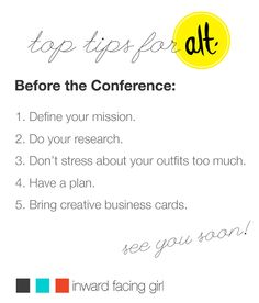 New mini-series on the blog today  - Top Tips for @Anne Trout Summit: Before the Conference