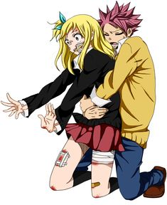 Natsu and Lucy -Fairy Tail Fairy Tail Lucy, Natsu Fairy Tail, Fairy Tail Amour, Anime Fairy Tail, Fairy Tail Comics, Fairy Tail Ships, Fairy Tail Genderbend, Fairytail, Jellal