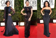 Dark Sparkle Gowns--Golden Globes 2013