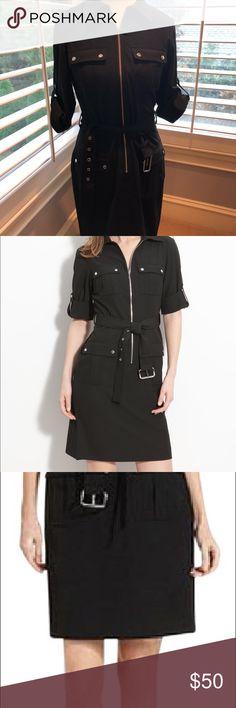 Micheal Kors belted dress MICHAEL Michael Kors - Roll Sleeve Belted Shirtdress worn once size m MICHAEL Michael Kors Dresses Midi