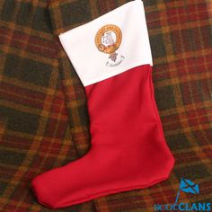 MacQueen Clan Crest Christmas Stocking