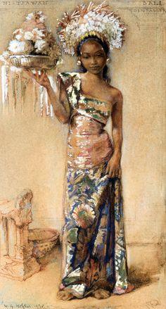 balinese girl, Willem Gerard Hofker