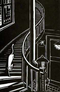 Cafe Inevitable - Le Chat by Frans Masereel