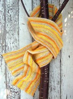 This garter stitch beauty is great for beginner knitters who want to get a taste for knitting with more than one color.  The Sunshine Scarf, crafted with three colorful shades, is just what yo need to chase away the winter blues.  Included is this free scarf pattern are Whitney's tips for weaving in color ends.  You won't want to miss this!