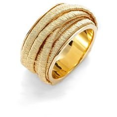 Marco Bicego 'Cairo' Multi Strand Ring ($2,580) ❤ liked on Polyvore featuring jewelry, rings, yellow gold, 18 karat gold jewelry, wrap ring, woven ring, gold rings and braided band ring