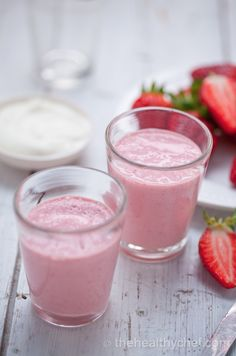Strawberries + Crème Smoothie