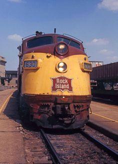 Rock Island Line Joliet, Illinois July 1972 Train Posters, Railway Posters, Rock Island Railroad, Joliet Illinois, Islands In The Pacific, Railroad History, Bonde, Railroad Photography, Covered Wagon