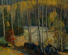 """""""Taos Mountain and Stream,"""" Walter Alexander Bailey, ca. 1927, oil, 25 ¼ x 30 ¼"""", private collection."""