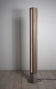 solid wood concrete led floor lamp alessandro s. Capriceone.it