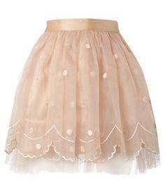 Falda rosa de tutú