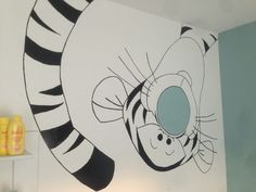 Super leuke muurschildering boor een kinderkamer