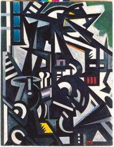 Emilio Vedova (IT, 1919-2006) - Interno di fabbrica - 1949-1950 - olio su tela - Forlì, Palazzo Romagnoli, Collezioni del Novecento