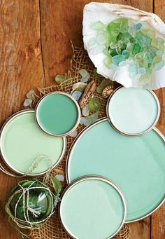 Seaglass Green Color Palette 3 Living room walls + dr wall match lighter shade 2 dr walls and hall