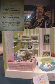 Prêmio de OURO no maior concurso de bolos do mundo - Cake International Birmingham - NEC