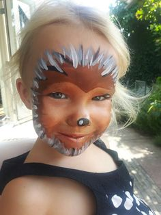 Hedgehog Full Face Paint