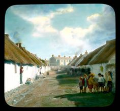 Claddagh: woman at a cottage door with laundry, in Claddagh, a fishing village near Galway :: Branson DeCou Digital Archive Ireland Pictures, Old Pictures, Love Ireland, Galway Ireland, Irish Landscape, Irish People, Irish Cottage, Green Valley, Connemara
