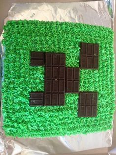 Minecraft cake I made for my son's birthday.