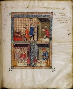 """The Metropolitan Museum of Art in New York is getting into the Passover spirit with """"The Rylands Haggadah: Medieval Jewish Art in Context,"""" a new exhibit showing a """"priceless"""" medieval Haggadah.    The Rylands Haggadah, on loan from the University of Manchester, England, hails from Catalonian Spain and dates from the mid-1300s. It is being displayed alongside other medieval works of art that tell stories of the Jewish people in the Bible."""