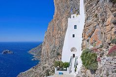 The Panagia Hozoviotissa monastery, built into the cliffs of Amorgos island in Greece. Best Travel Deals, Greece Islands, Greece Travel, More Photos, Ny Times, To Go, Around The Worlds, How To Plan, Water