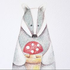 greeting card badger a6 by the fox in the attic | notonthehighstreet.com