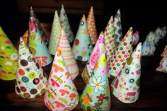 Birthday party- Could totally glue ribbon and staple elastic and make these into Princess hats! Owl 1st Birthdays, Owl Birthday Parties, Birthday Hats, Birthday Ideas, Birthday Morning Surprise, Diy Party Hats, Party Time, Party Fun, Colorful Party