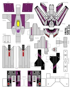 "this is a experimental decepticon weapon, they callem ""sky-tron"" papercraft skytron Paper Robot, 3d Paper, Origami Paper, Paper Toys, Paper Crafts, Paper Model Car, Paper Models, Projects For Kids, Diy For Kids"