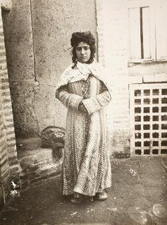 Iranian women in Qajar era. (Kurdish girl living in Iran in traditional dress.)