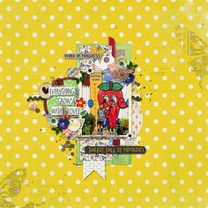 Template: Jump Right In by Two Tiny Turtles Kit: Garden of Wonders by Amanda Yi and Vera Lim Designs