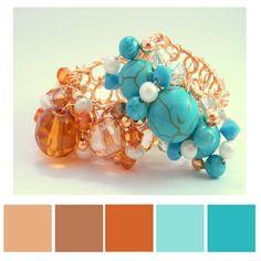 Paleta de colores de nuestros Anillos de base tejida de oro laminado en diferentes colores ♥