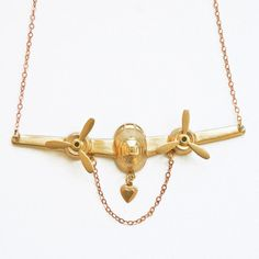 On The Wings Of Love Necklace, $39, now featured on Fab.