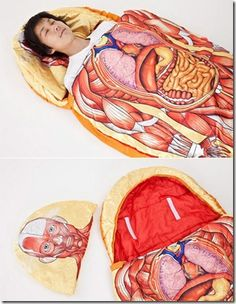 Human Anatomy Sleeping Bag