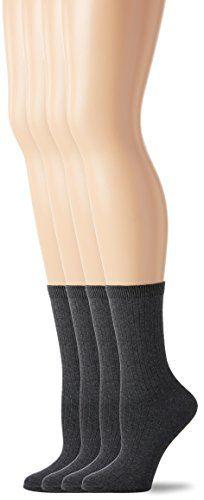 3241699c3 PEDS Women s Charcoal Heather Ladies Dress Crew Socks