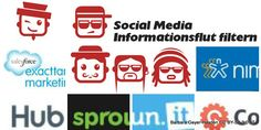 9 Tools, um die Social Media Informationsflut zu filtern Logos, Social Networks, Psychics, Pictures, A Logo, Legos