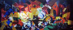 Александра Экстер (1882-1949) - Венеция. Панно. 1918. Холст, масло. 268 x 639 см. Государственная Третьяковская галерея, Москва