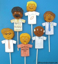 """Lindsay Ann Bakes: Customizable """"Dad"""" Cookie Pops for Father's Day (LollyPapas)"""